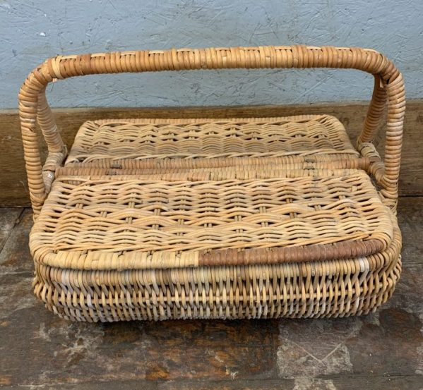 Reclaimed Wicker Picnic Basket