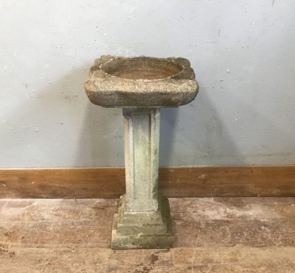 Reconstituted Stone Bird Bath