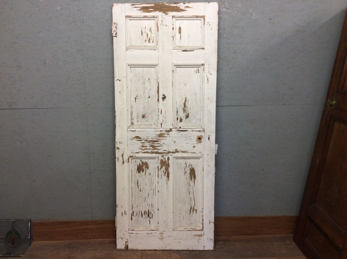 Painted White 6 Panel Door