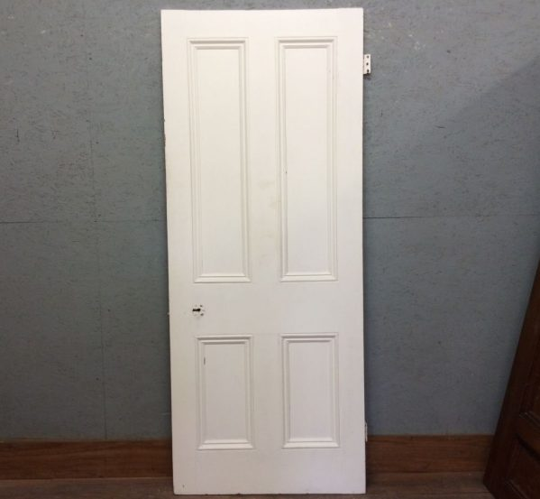 White 4 Panelled Door w Full Beading