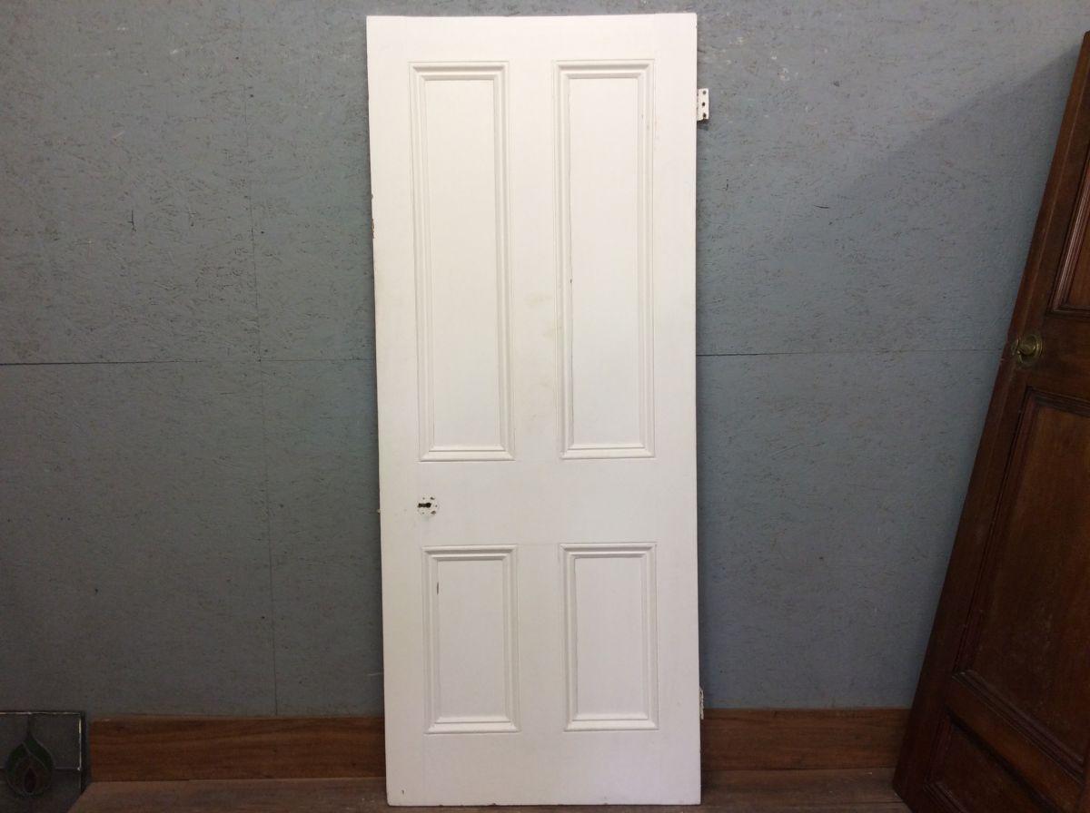 White 4 Panelled Door w Full Beading