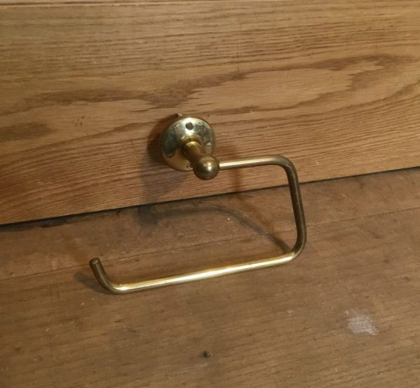 Large Brass Toilet Roll Holder