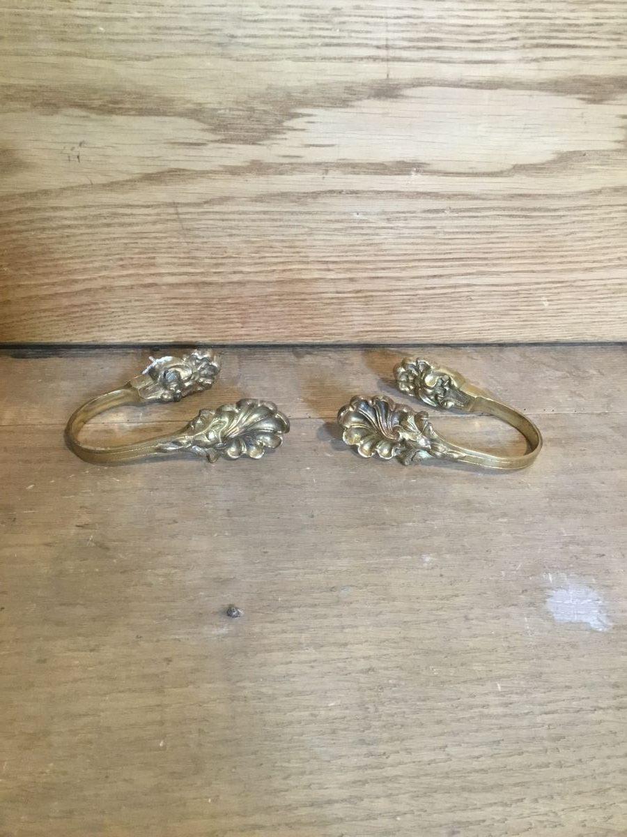 Ornate Brass Curtain Ties