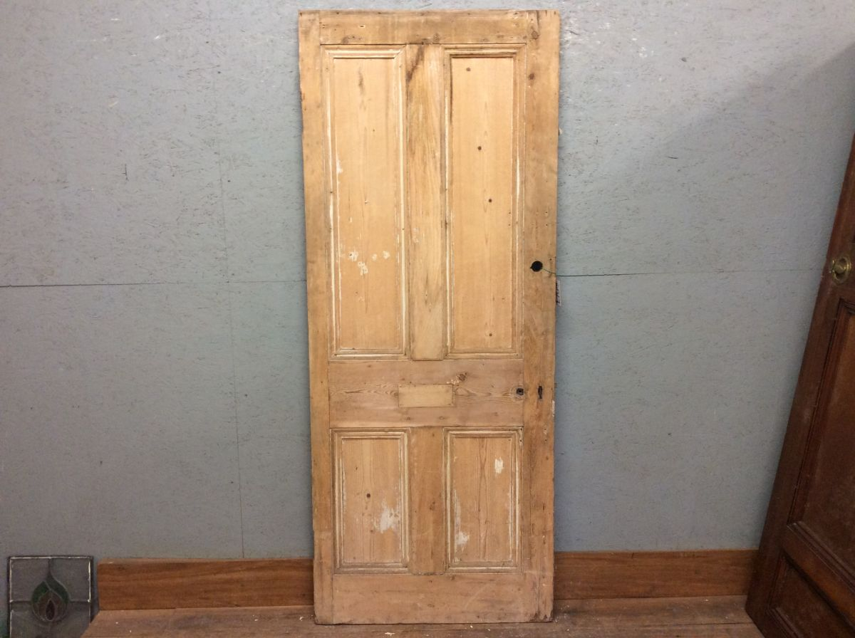 Stripped Finish 4 Panelled Pine Door