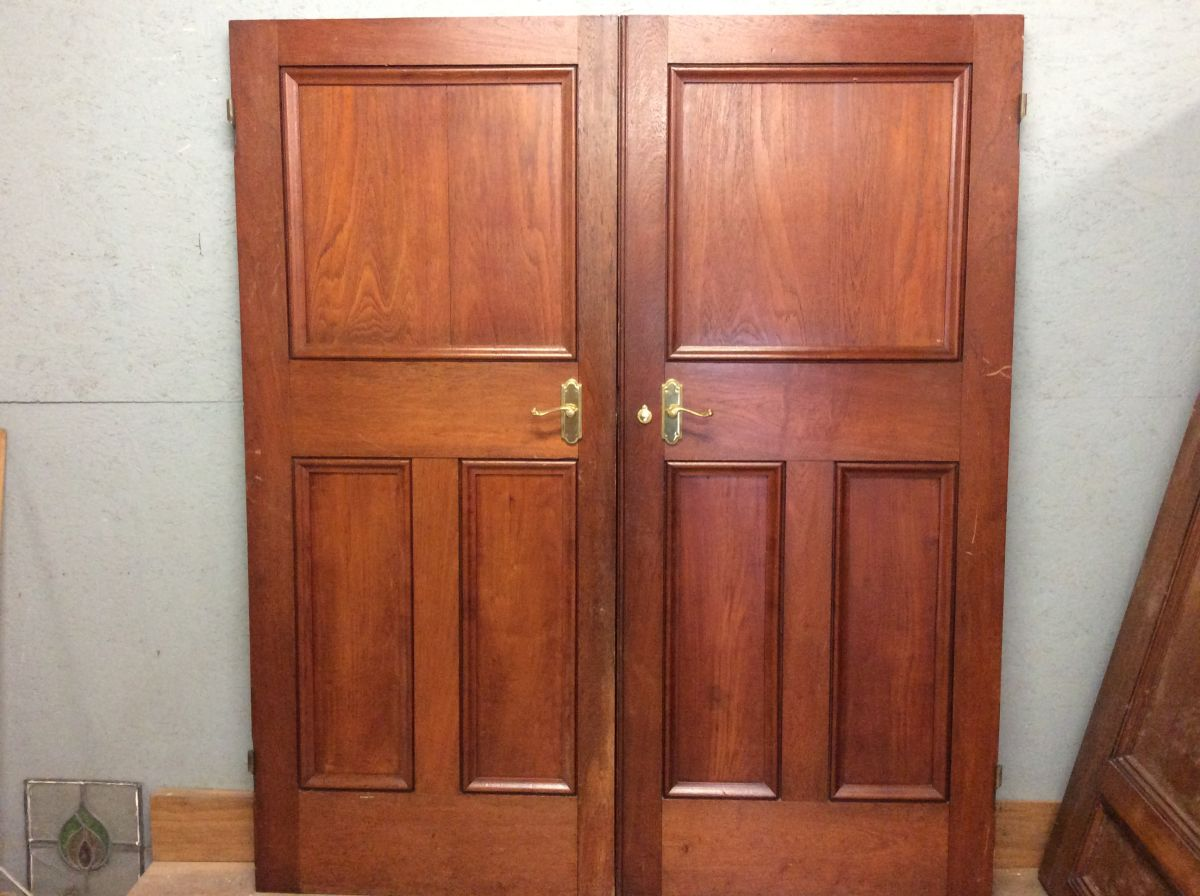 Heavy Oak Double Doors (1 over 3)