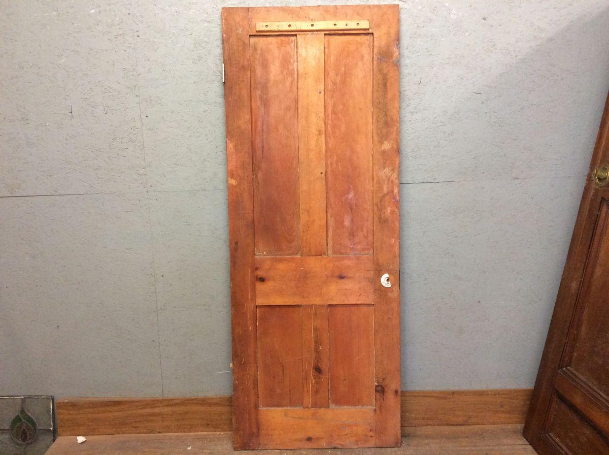 Dark 4 Panel Pine Door