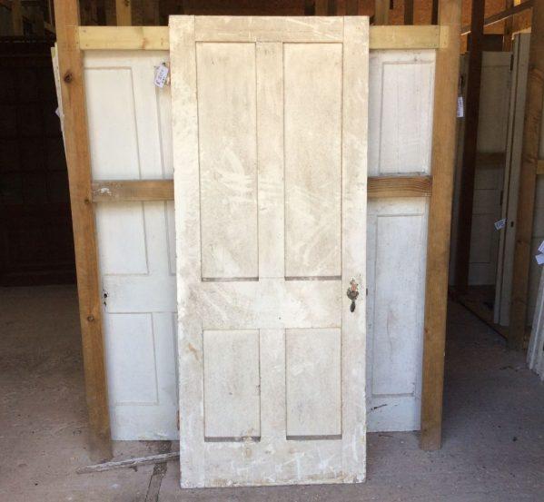 Reclaimed Painted 4 Panel Oak Door