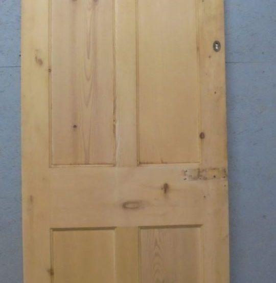 Stripped pine 4 panel door