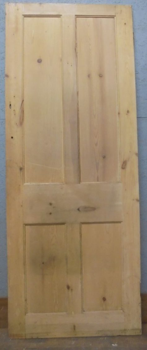 Stripped pine 4 panel door
