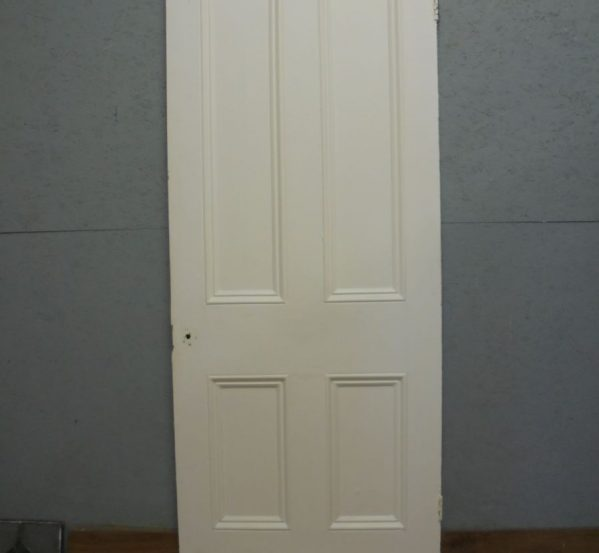 Pine Door 4 panel painted white
