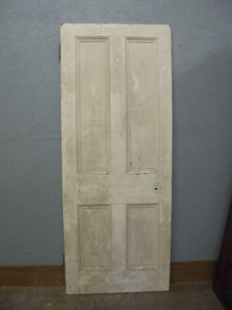 Pine Door 4 panel painted cream