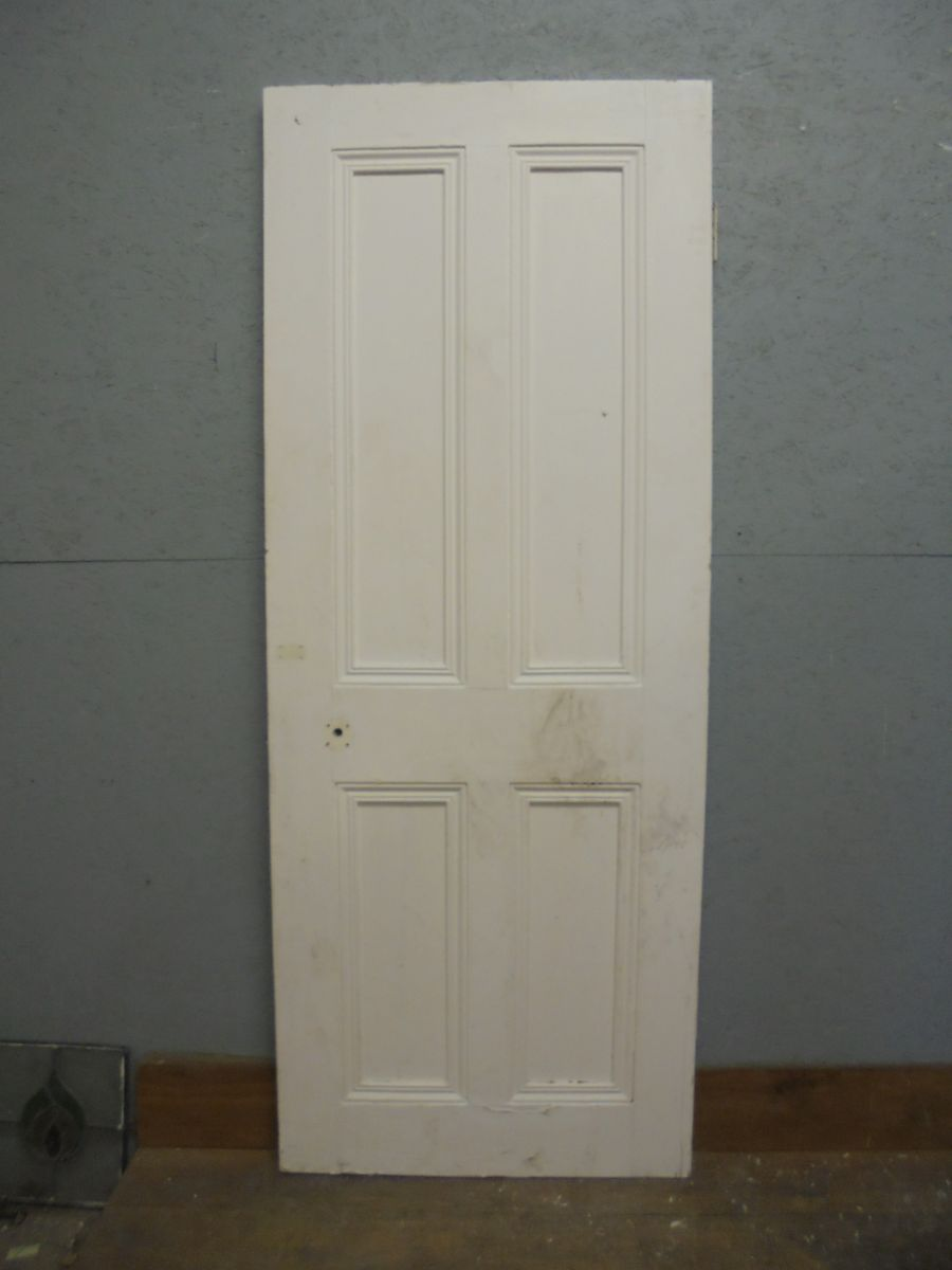 4 panel white painted door