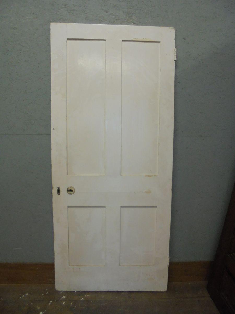 4 Panel Pine Door Painted and Wide