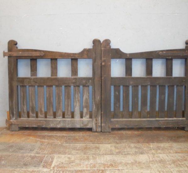 Small Mahogany Wooden Gates