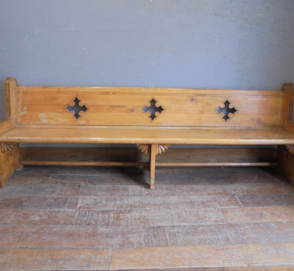 Pine church pew
