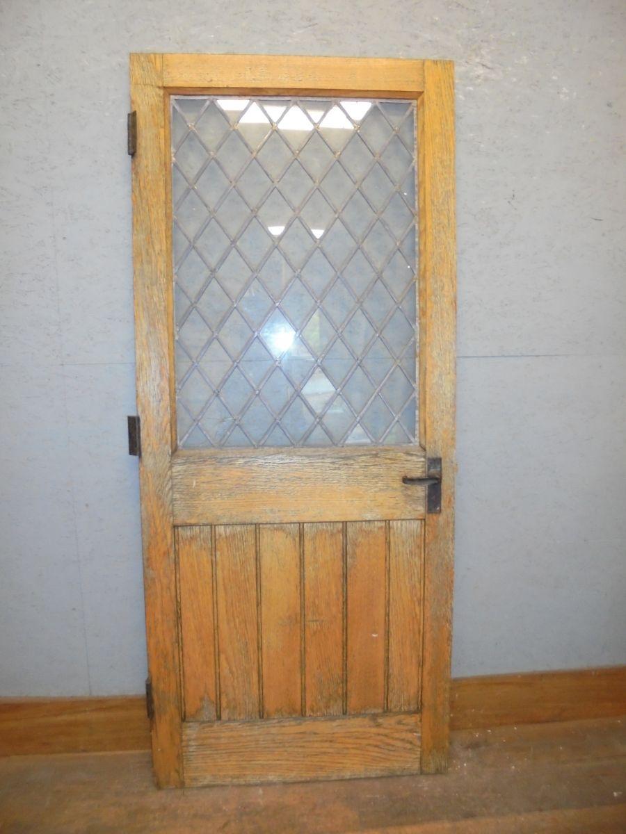leaded oak door