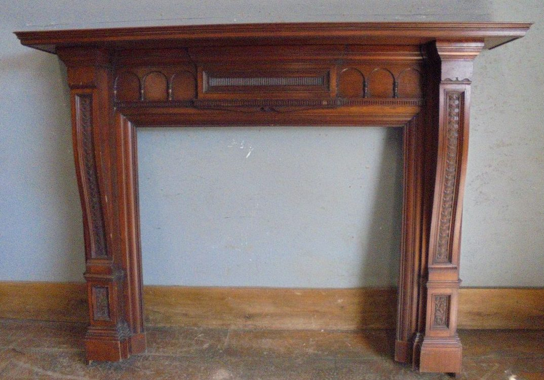 Mahogany fire surround