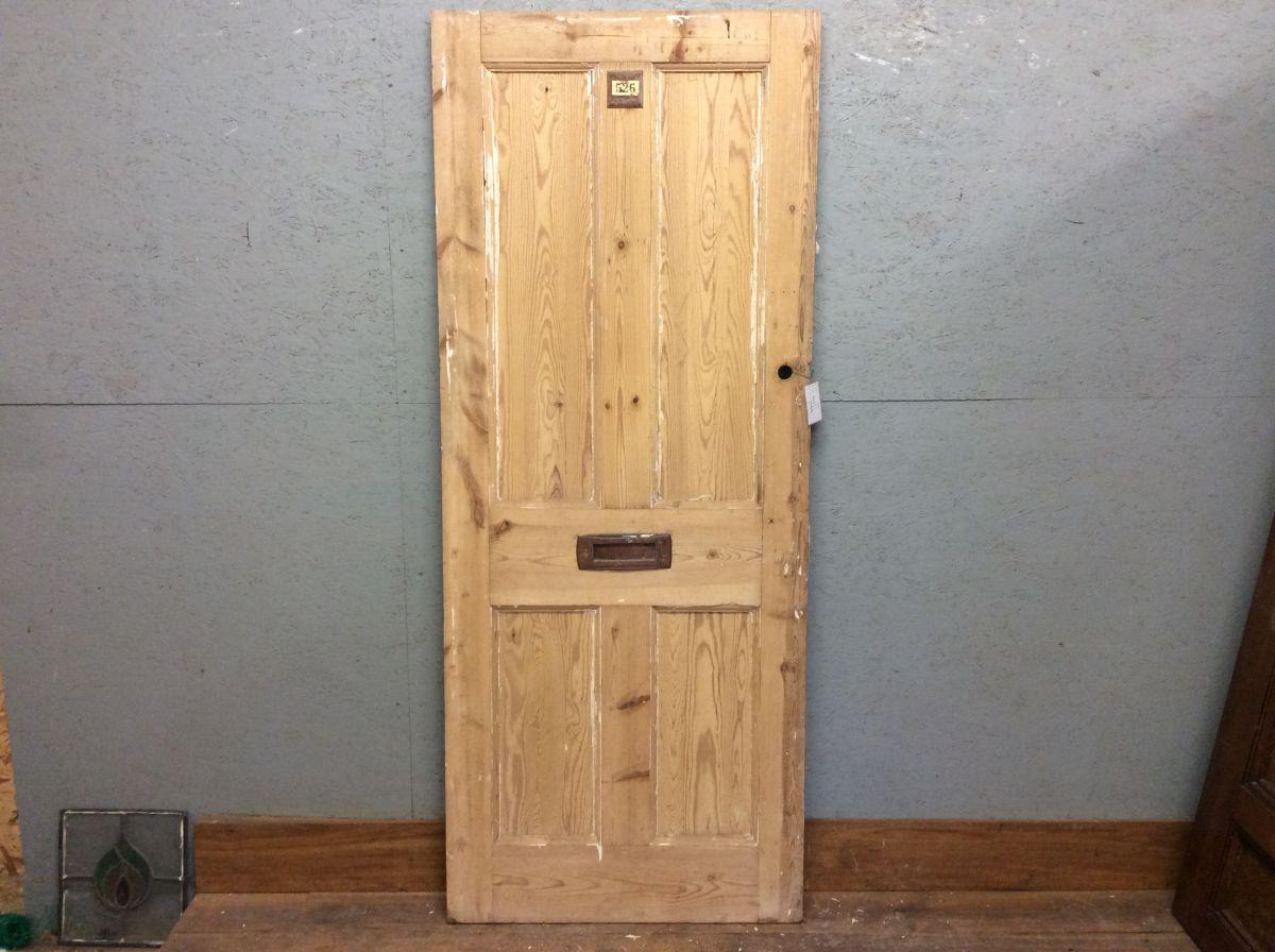Strippedd 4 Panelled Pine Door