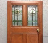 Oak Plush Stained Glass Door