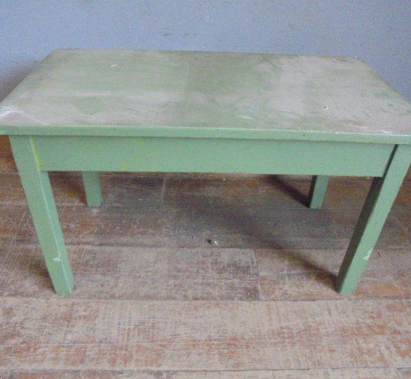 Green children's desk