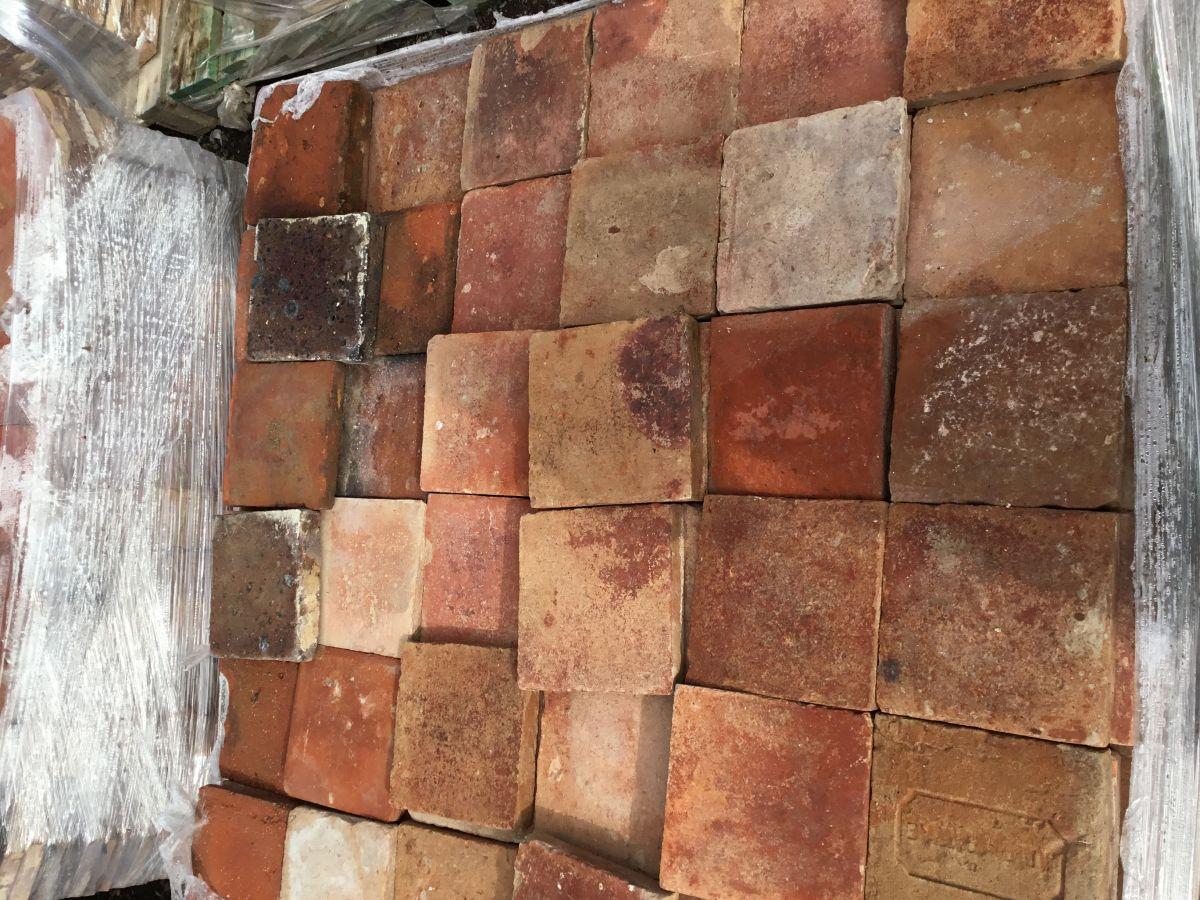 6 1/2 Dark Square French Tiles