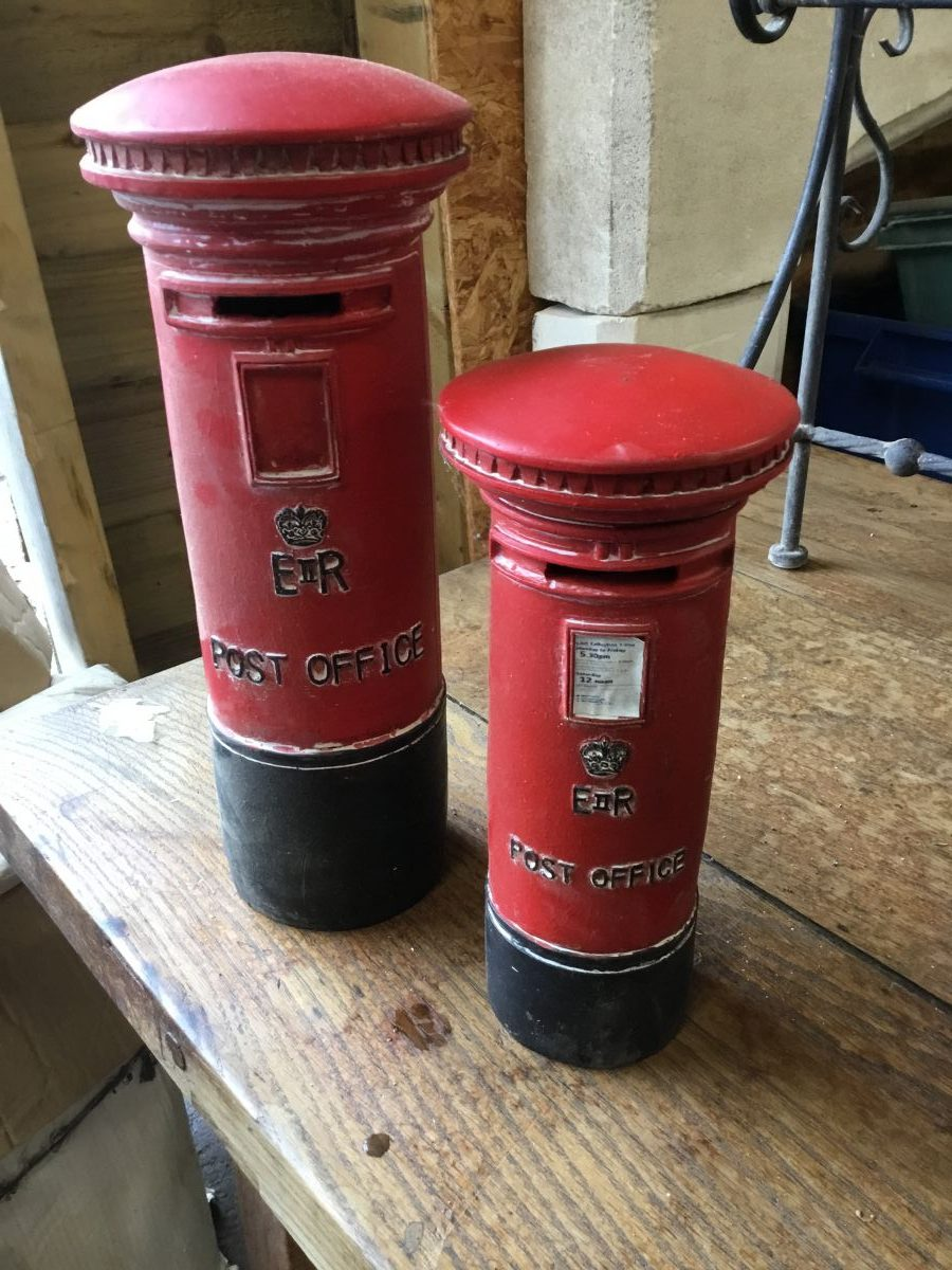 Small Red Postbox Piggy Bank