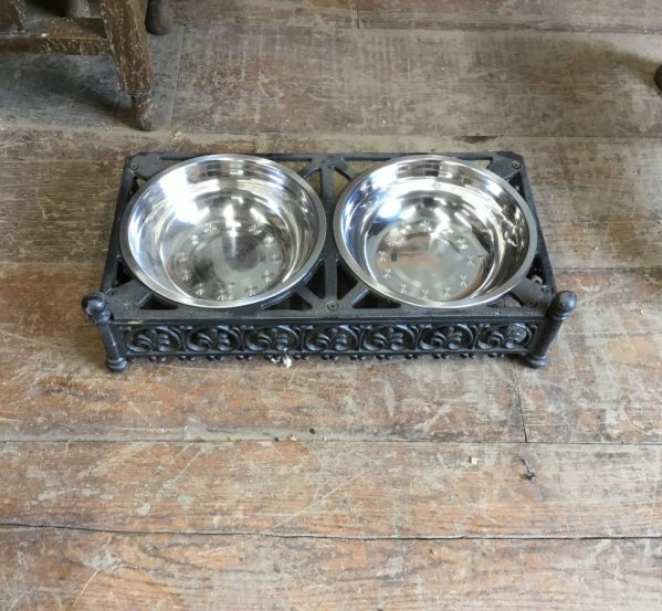 Double Metal Dog Bowl