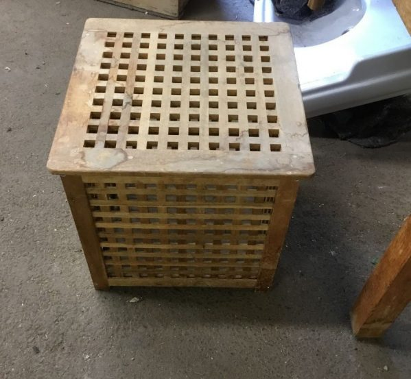 Wooden Washing Basket