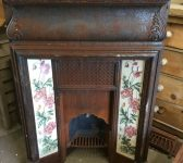 Floral Tiled Fire Insert