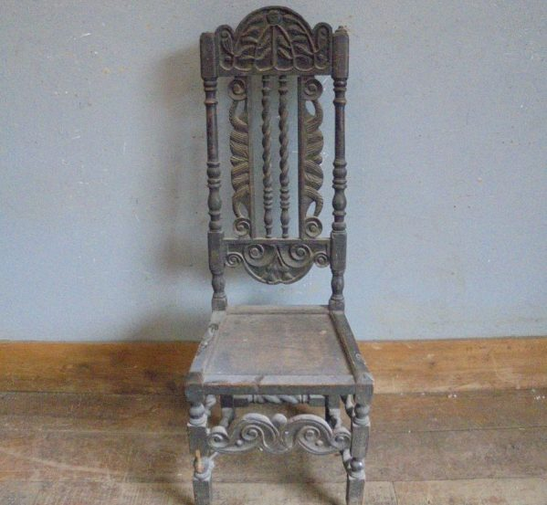 High Back Oak Chair Chair