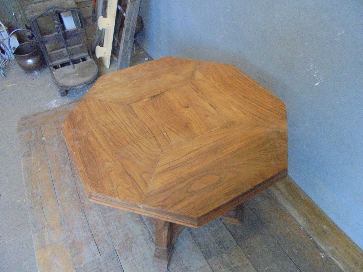 Reclaimed Pine Octagonal Table