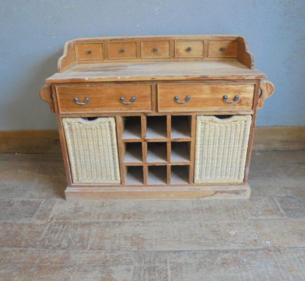 Antique Pine Kitchen Cabinet