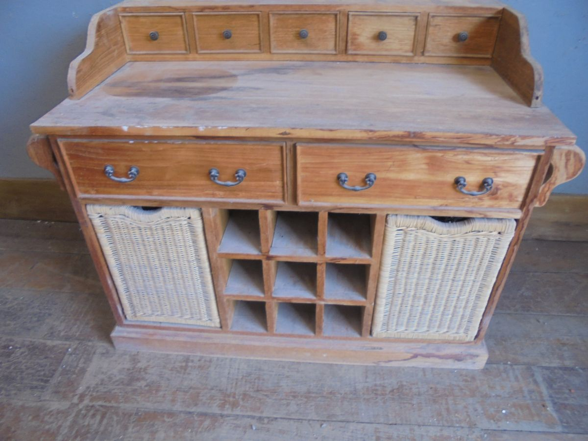 Antique Pine Kitchen Cabinet
