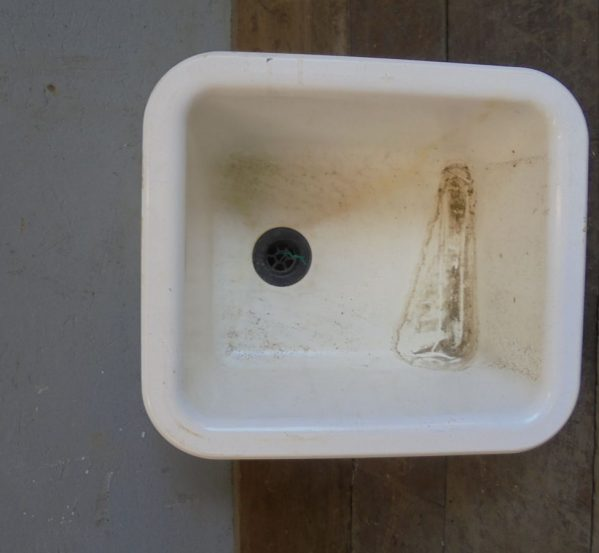 White Molded Plastic Sink