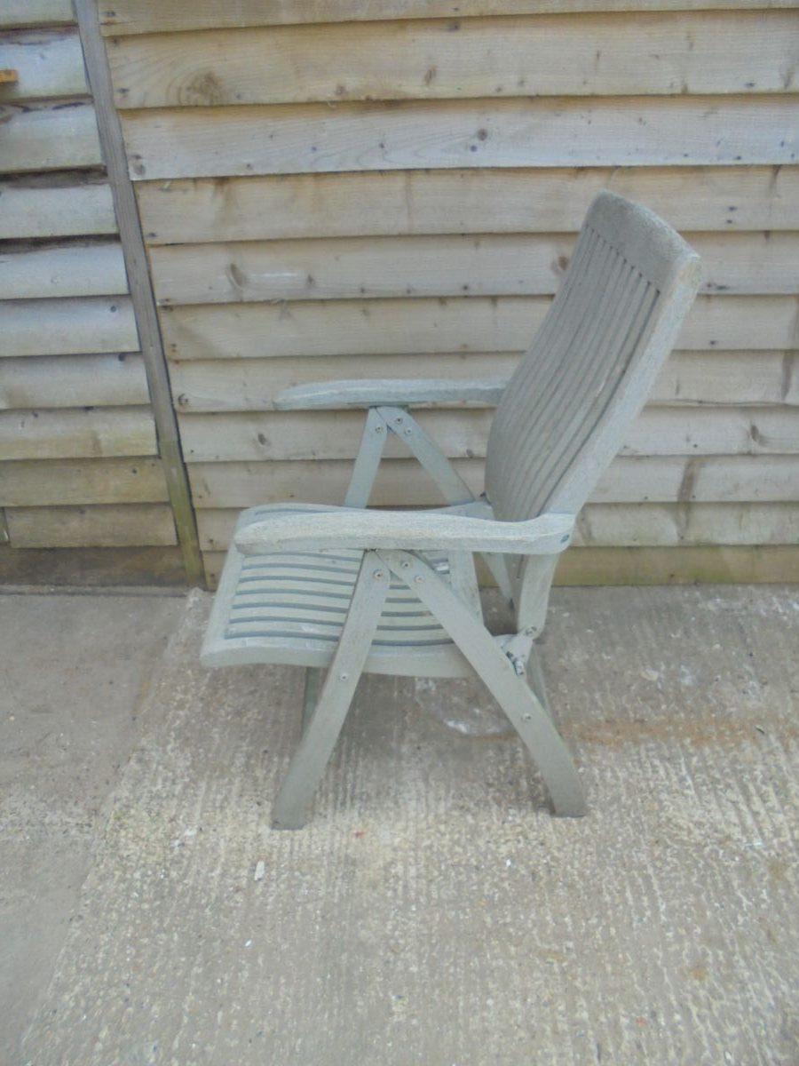 Wooden Recliner Chair Set