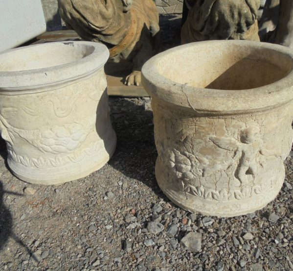 Pair of Concrete Planters