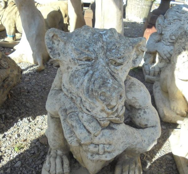 Concrete Monkey Gargoyle