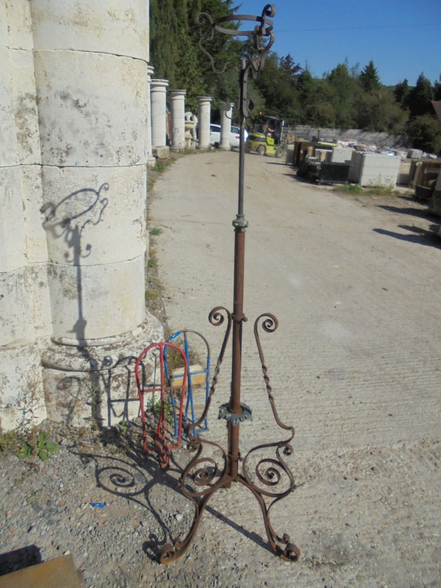 Wrought Iron Lamp Stand