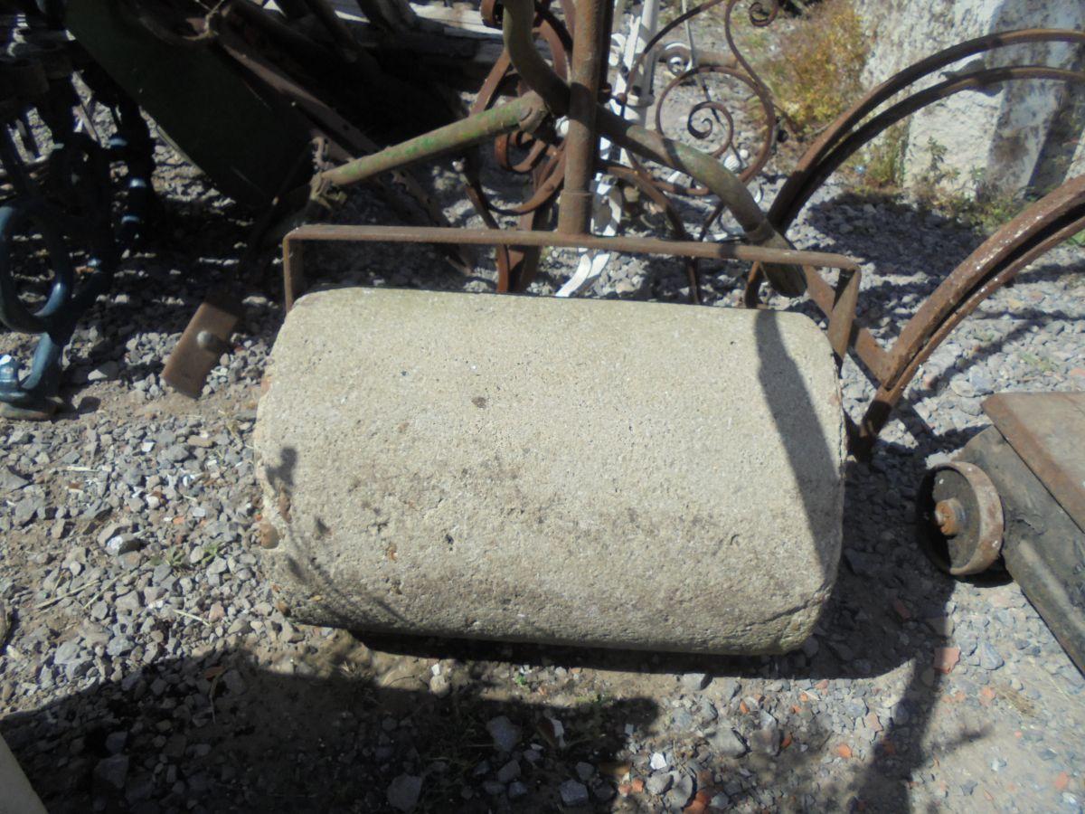 small stone garden roller