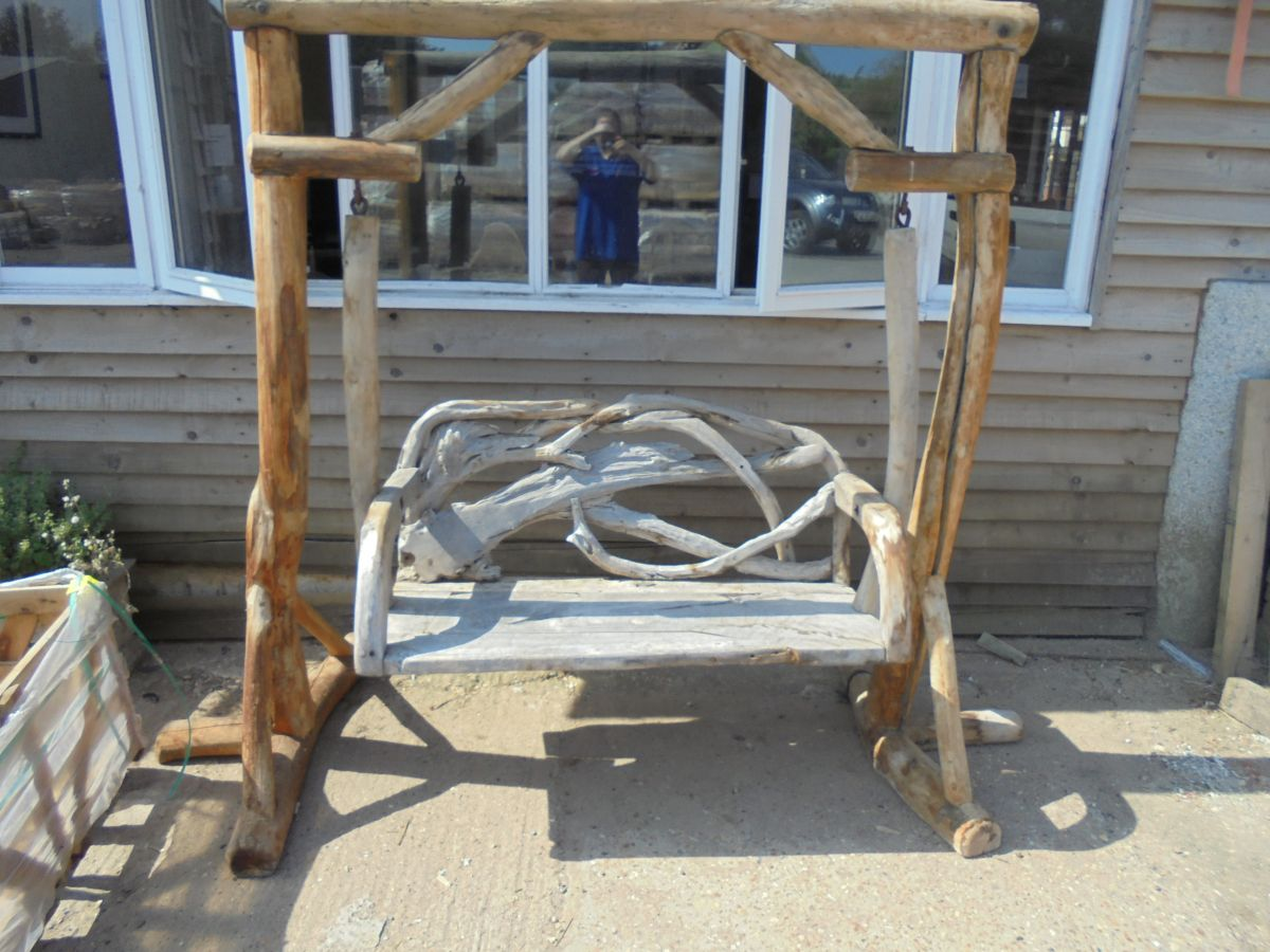 Wooden Double Swing Bench