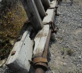 wooden cart axle