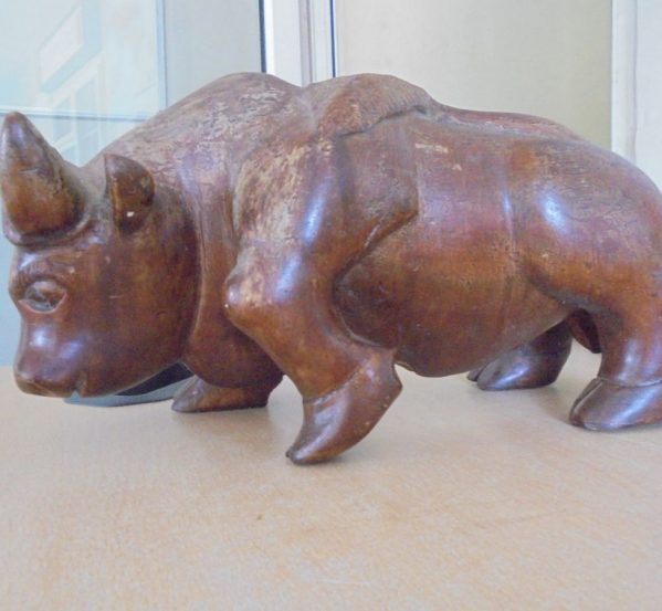 Wooden Bull Ornament