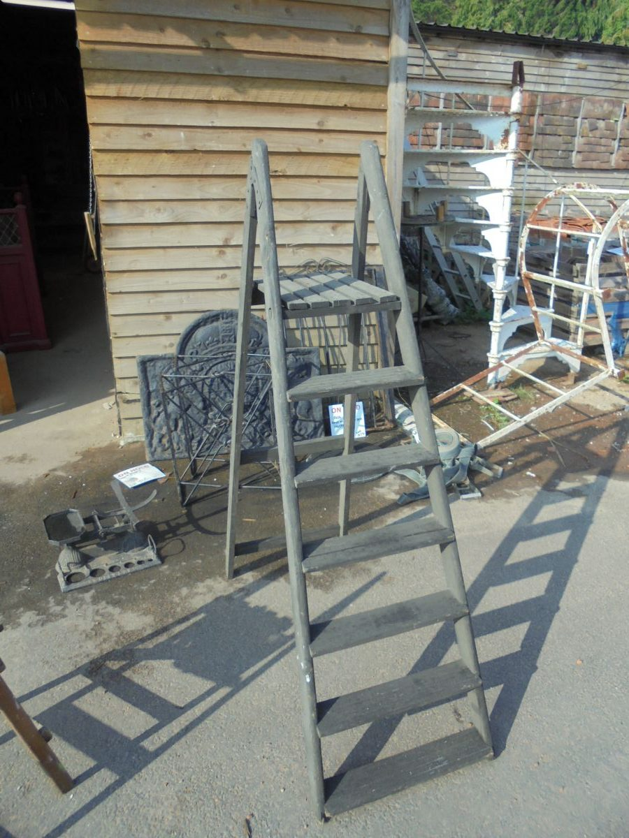 Painted Wooden Step Ladder