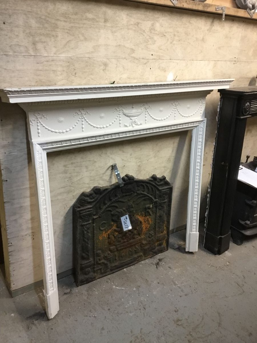 White Painted Simple Fire Surround