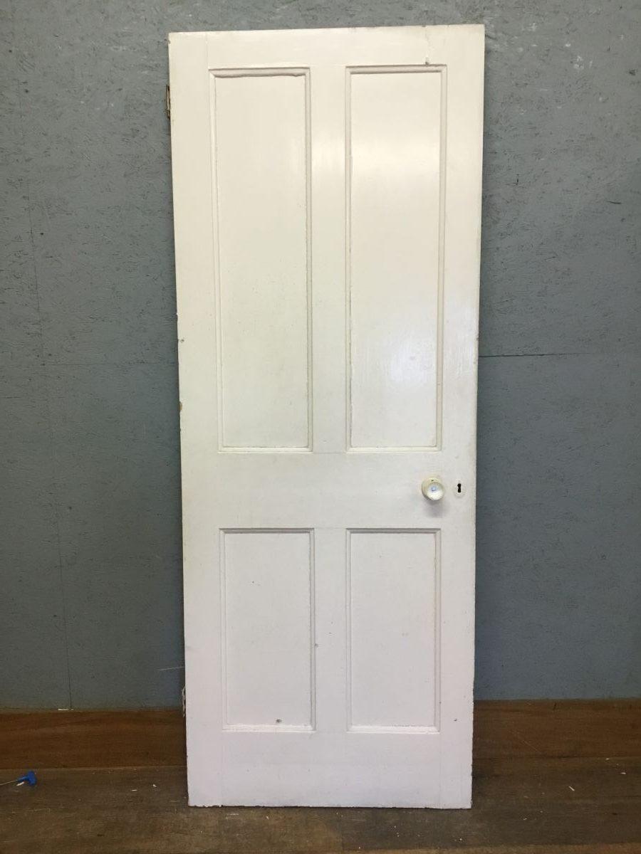 Blue + White 4 Panel Door