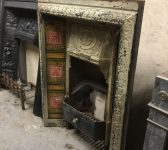 Reclaimed Painted Tiled Fire Insert