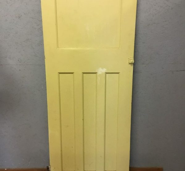 Narrow Painted Panelled Door