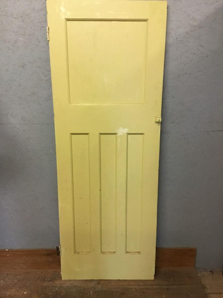 Narrow Painted Panelled Door