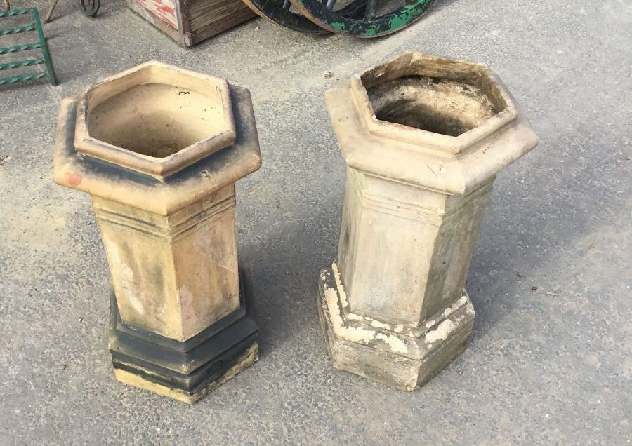 Buff Hexagonal Chimney Pot