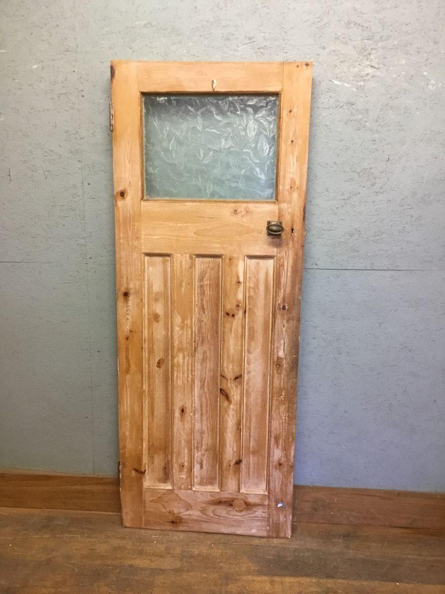 Half Glazed Pine Door